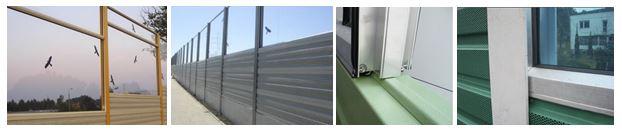 Protihrupne ograje - kombinacija aluminijskih in transparentnih protihrupnih panelov